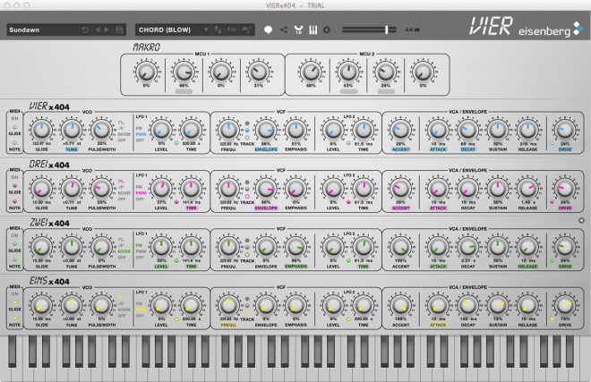 Highlight knobs and settings with VIER